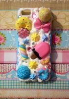Sweets Whipped Cream iPhone5/5s phone case by Javdaneh