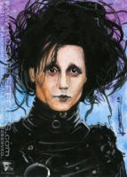 Edward Scissorhands Sketchcard by KOSARTeffects