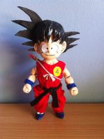 Kid Goku Clay Sculpture - pose 1 by Tomistral