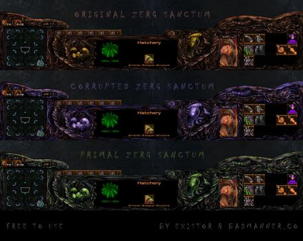 Zerg Sanctum Overlay - for streams and ingame use by Dexistor371