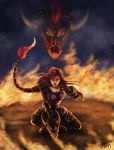 Iron Scale Shyvana by tkpanther