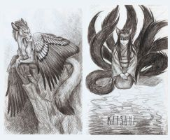 Sketchbook pages I by Nachiii