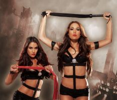 Bella Twins Whips by TheSm00thCriminal