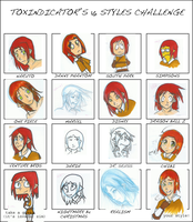 16 Styles of Derrien by DarkfireDraco