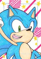 Sonic the Hedgehog trading card by Snivy94