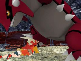 Saphire vs Groudon by stopmotionOSkun