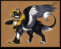Flame as classic gryphon by Husky-Foxgryph
