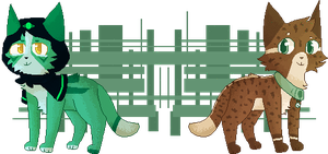 Shayxy and Riko Pixel pagdoll [YCH] by Echacharpe