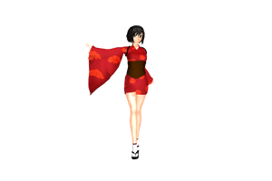 MMD Red Ninja DL by 2234083174