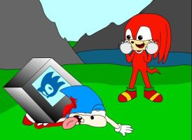 1up monitor kills sonic by GriffinFlash