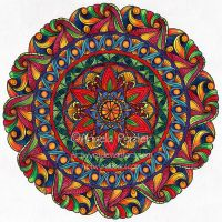 August Mandala 7 by Artwyrd