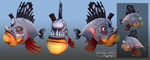 Mr Smiles: Top Hat Fish by daft667