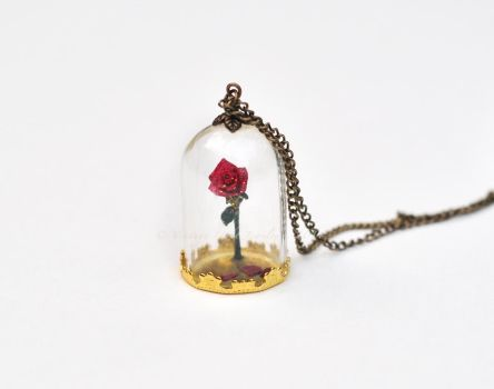 Beauty and the Beast Enchanted Rose -3 by VintageLightJewelry