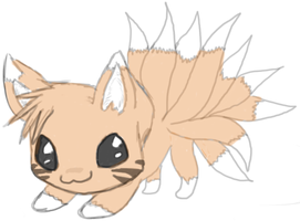 Chibi Nine-tails by AnnaWolfheart