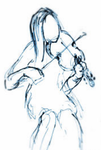 Violin Girl Sketch by WallFlowerChic