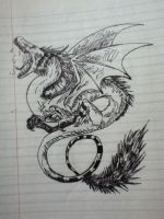 Dragon tattoo by v-is-a-beast