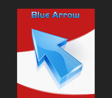 BLUE ARROW CURSOR by juanelloo