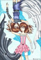 Mana and Her Clone by Mana-L