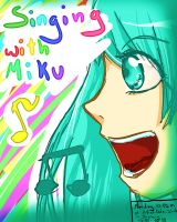 Singing with Miku - Poster 2 by Hanyan-x3