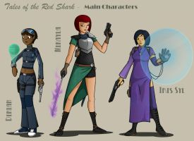 Tales of the Red Shark - Main characters by Jops556