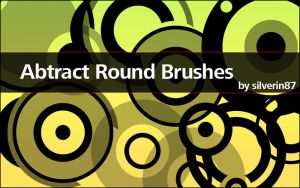 Abstract Vector Round Brushes by silverin87