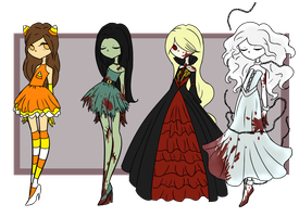 Halloween Adoptables Auction OPEN by GrimmAdopts