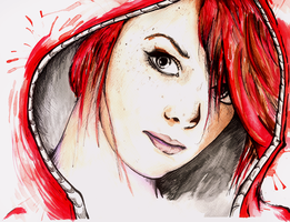 Red (Riding) Hood by mejia29