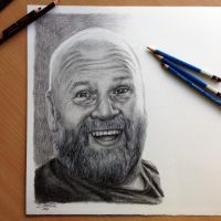 Pencil portrait for a friend by AtomiccircuS