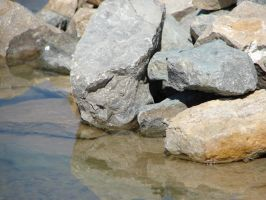 Rock Water Nature Background by FantasyStock