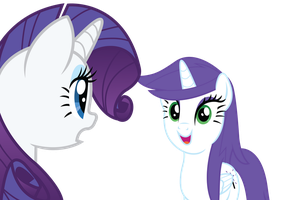 Rarity and Glitter Star REQUEST by RainbowDerp98