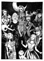 Tim Burton wedding by B3NN3TT