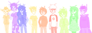Friends .: Homestuck :. by NeonWolfGlow