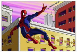 spidey swinging by stevesafir