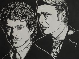 Hannibal and Will by BossHossBones