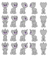 Colt pony Flash puppets (colt) by AleximusPrime