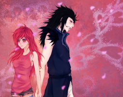 SC: Angela and Gajeel by sylwiaiiwo
