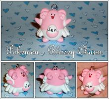 Pokemon  Blissey Necklace Charm  Custom Handmade by YellerCrakka