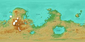 Mars Political Map by AxiaTerraArtUnion