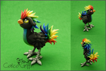 Custom: Rainbow Rooster by CalicoGriffin