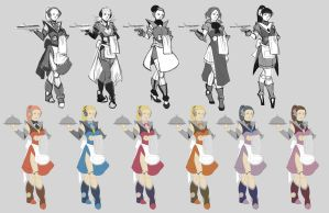 Android Maid Variations by whitty-boo