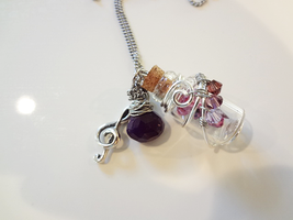 Bottle Beauty Necklace - Purple Melody by WaterGleam