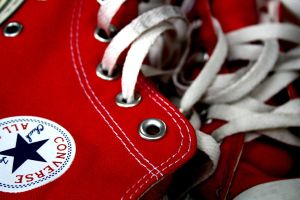 Red Converse by eline-w