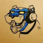 Voltron Legendary Defender : Blue Lion by ToastyLynx