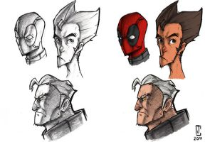 DP, Wolvy, Cable Sketch by cjcenteno