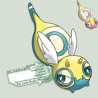 D hero forme of dunsparce by G-FauxPokemon