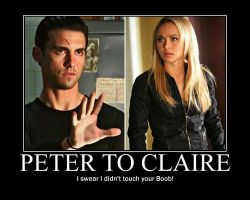 Peter Says To Claire by PureBloodedRen