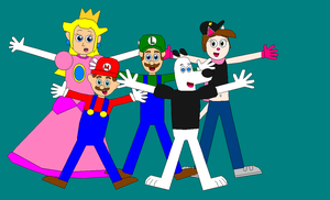 Mario Bros, Dudley, Domi and Peach do Ending Poses by Eli-J-Brony