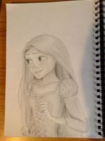 Tangled Rapunzel Drawing by AtomicRamenEater