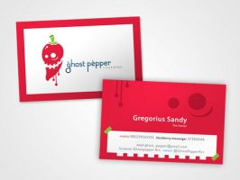 Business Card Ghost Pepper by GhostPepperArt