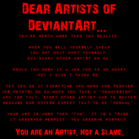 Dear Artists of DA by ShiloT